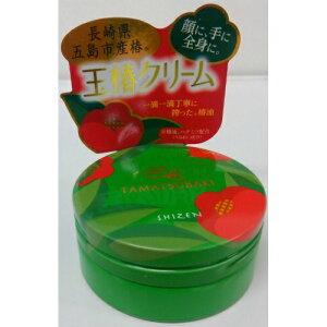 【送料無料・まとめ買い10個セット】シゼン 玉椿クリーム 65g(椿油配合の全身用クリーム)