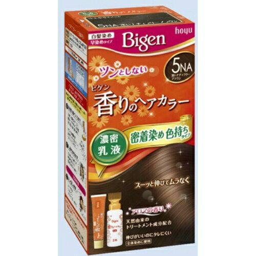 【送料無料・まとめ買い4個セット】ホーユー ビゲン 香りのヘアカラー 乳液 5NA 深いナチュラリーブラウン