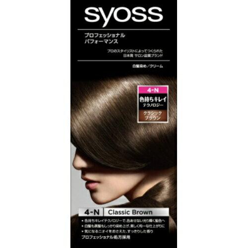 シュワルツコフ ヘンケル サイオス syoss ヘアカラー C4 クラシックブラウン 4-N 医薬部外品 クリームタイプのヘアカラー ( おしゃれ染め ) 女性用