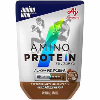 【メール便送料無料】アミノバイタル アミノプロテイン チョコレート味 10本入
