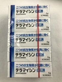 【×10個 配送おまかせ送料込】【第2類医薬品】 テラマイシン軟膏a 6g 1個皮膚の薬 しっしん・かゆみ(4987123701693)二つの抗生物質が化膿に効く化膿性皮膚疾患用薬です。