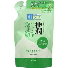 【×2個セット送料込み】ロート 肌研 極潤 ハトムギ泡洗顔 つめかえ用 140ml (4987241145645)