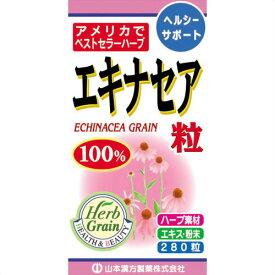【送料無料・まとめ買い×4個セット】山本漢方製薬 エキナセア粒100% 280粒