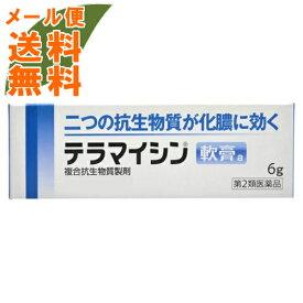 【メール便送料無料】【第2類医薬品】 テラマイシン軟膏a 6g 1個皮膚の薬 しっしん・かゆみ(4987123701693)二つの抗生物質が化膿に効く化膿性皮膚疾患用薬です。