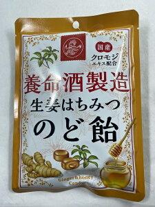 【×10個 配送おまかせ】養命酒製造 生姜はちみつ のど飴 76g 1個 4987236015656