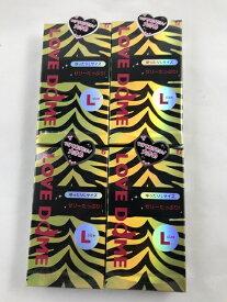 【×4個 配送おまかせ送料込】オカモト ラブドーム タイガー ゆったりLサイズ 12個入(4547691721280)スキン コンドーム 避妊具