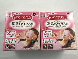 【×2個セット送料無料】花王 めぐりズム 蒸気でホットアイマスク 無香料 12枚入(4901301348029)