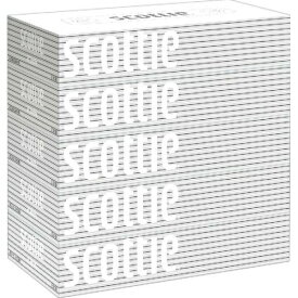 【送料無料・まとめ買い×8個セット】スコッティ ティシュー 400枚 ( 200組 ) ×5箱パック ( 箱ティシュー、ボックスティッシュ )