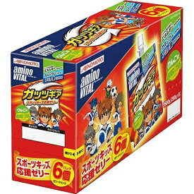 【送料無料・まとめ買い×4個セット】味の素 アミノバイタル AMINO VITAL ガッツギア りんご味 6個パック