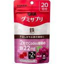 【×5袋 メール便送料込】 UHA味覚糖 UHA グミサプリ 鉄 20日分 40粒入