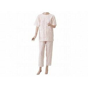 神戸生絲 婦人用 楽らくガーゼパジャマ半袖ローズ L