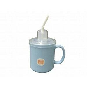 台和 ストロー付きマグカップブルー 介護用 吸い飲み 薬 くすりのみ ストロー 福祉 食事 食器(4904778261228)