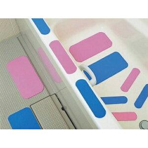 【×2個 メール便送料込】ケアメディックス お風呂ピタットシート 1号 ブルー 5cm×20cm 12枚入(4958519401305)