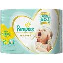 【送料無料・まとめ買い4個セット】P&G パンパース はじめての肌へのいちばん 新生児より小さめ 24枚入り テープタイ…