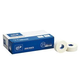 【送料無料 5000円セット】ZERO ホワイトテープ 非伸縮タイプ 25mm×13.75m 12巻入×2個セット