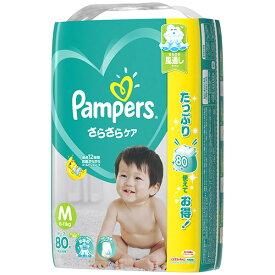 【送料無料・まとめ買い2個セット】P&G パンパース さらさらケア テープ Mサイズ 80枚入り ( 子供用オムツ )