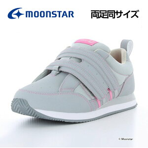 ムーンスター メンズ/レディース 介護 リハビリ シューズ 両足同サイズ Vステップ06 グレイ moonstar