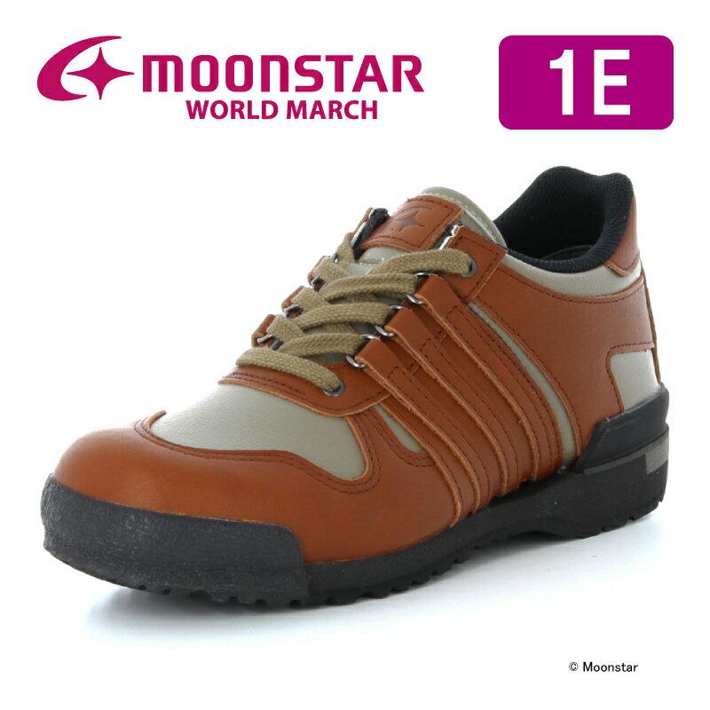 【送料無料】【ムーンスター ワールドマーチ】【婦人靴】WL508PRIDE オリーブ/ブラウン