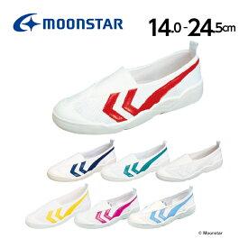 ムーンスター 子供靴 上履き バイオTef 01(14.0cm-24.5cm) moonstar 2E 国産 上靴 学校 入園 入学 白