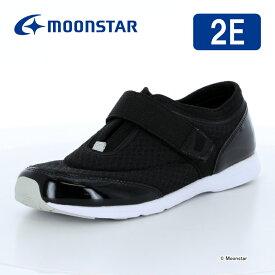 ムーンスター レディース 室内運動向けシューズ 大人の運動靴03 ブラック moonstar 2E