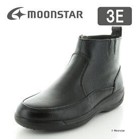 10%OFFクーポン配布中ムーンスター 【送料無料】 メンズ ブーツ SPH8990WSR ブラック moonstar 3E 防滑底 透湿防水
