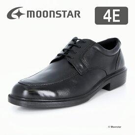 ムーンスター 【送料無料】 メンズ ビジネス シューズ SPH4941 ブラック moonstar 幅広 4E 撥水加工 国産