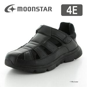 【10%OFFクーポン配布中!3/7まで】 ムーンスター メンズ サンダル SPLT M179 ブラック moonstar 4E 黒