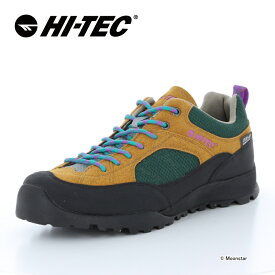 ハイテック HI-TEC メンズ/レディース ハイキング シューズ 透湿防水 HT HKU11 AORAKI WP ブラウン/グリーン