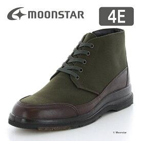 ムーンスター 【送料無料】 メンズ ブーツ SPH7322TSR カーキ moonstar 幅広 4E 透湿防水 ファスナー付
