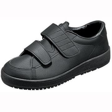 【送料無料】【ムーンスター】【介護靴】Vステップ03 ブラック(両足同サイズ)【thxgd_18】