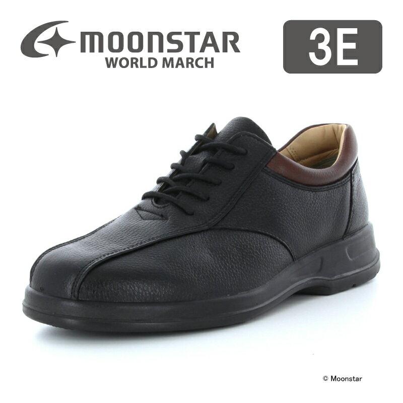 【送料無料】【ムーンスター】【紳士靴】【ビジネスシューズ】ワールドマーチ WM2026ST ブラック