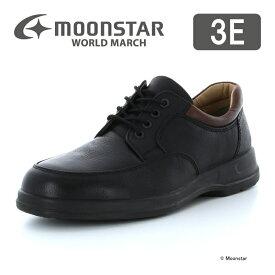 10%OFFクーポン配布中ムーンスター ワールドマーチ 【送料無料】 メンズ ビジネス シューズ WM2027ST ブラック moonstar 3E 国産