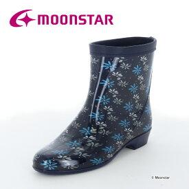 ムーンスター レディース レインブーツ ラベリア10 ネービー moonstar 長靴 雨靴 梅雨