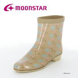 10%OFFクーポン配布中ムーンスター レディース レインブーツ ラベリア10 ベージュ moonstar 長靴 雨靴