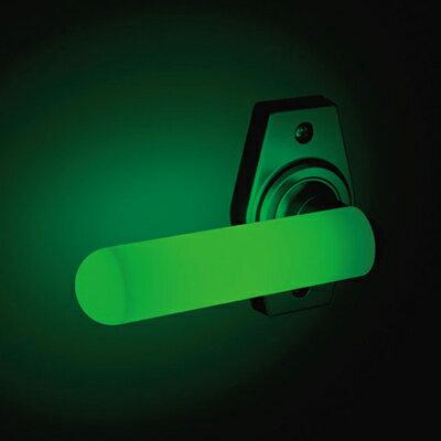 ドアレバーキャップ 蓄光型 1個 外径24mmX内径16mmX長さ100mm ノーマルタイプとブラウンタイプの2種類あります。暗闇でも安心です。