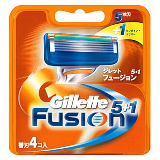 In total 5+1 4 Gillette fusion spare blade co-入 ★ 1,980 yen or more★