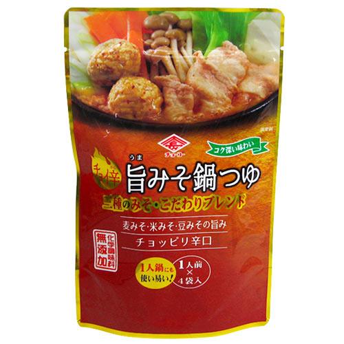 チョーコー醤油 チョイ辛旨みそ鍋つゆ 1人前(30ml)×4袋入 [化学調味料無添加]