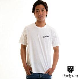 【値下げしました!】Brixton ブリクストン メンズ Tシャツ 白 ブランド おしゃれ スケーター サーフィン