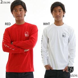 ブリクストン tシャツ 長袖 ロンt brixton おしゃれ ブランド 袖 プリント 赤