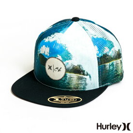 【マラソン限定 P最大43.5倍】HURLEY ハーレー キャップ メンズ CLARK LITTLE TAHITI HAT クラークリトル ブランド 帽子 メッシュ