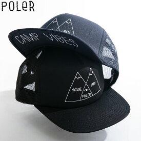 【マラソン限定 P最大43.5倍】POLER キャップ メッシュ 帽子 メンズ レディース