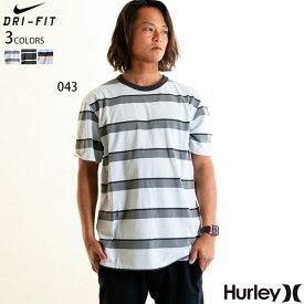 ハーレー HURLEY Tシャツ メンズ ブランド おしゃれ ボーダー 機能性素材