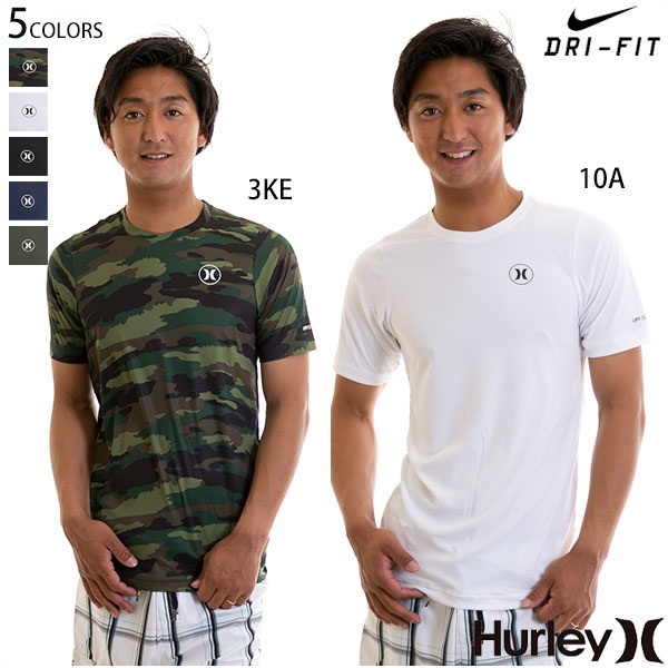 【値下げしました!SALE】Hurley ハーレー QUICK DRY ICON S/S 半袖 ラッシュTシャツ メンズ ナイキ ドライフィット UPF50+