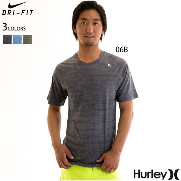 【値下げしました!SALE】Hurley ハーレー メンズ ラッシュガード 半袖 NIKE DRIFIT ナイキ ドライフィット UVカット UPF50+ QUICKDRY ICON PRINT S/S