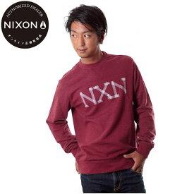 【値下げしました!】NIXON/ニクソン トレーナー プルオーバークルーネック メンズ バーガンディヘザー 赤