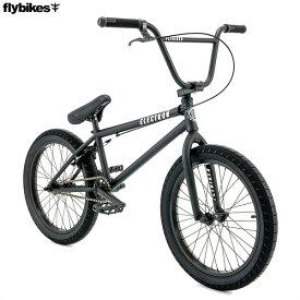 """【一部地域送料無料】BMX FLYBIKES フライバイクス 2020 """"ELECTRON 20.5 RHD"""" ブラック ストリート 自転車 20インチ"""