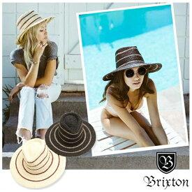 【値下げしました!】BRIXTON ブリクストン AMELIA HAT つば広 ストローハット レディース ラフィア ストライプ