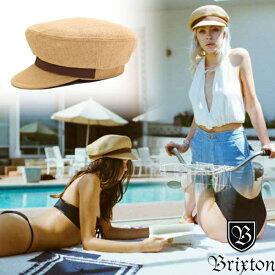 【値下げしました!】キャスケット レディース 帽子 麦わら ストロー キャップ おしゃれ ブランド ブリクストン マリンキャップ 大きいサイズ ブラウン
