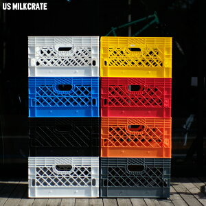 """ミルククレート """"US MILK CRATE RECTANGLE"""" US雑貨 バスケット コンテナ 12色バリ"""