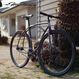 """ピストバイク T19 × HOW I ROLL """"MINIUM"""" 700C トランスブラック 自転車"""